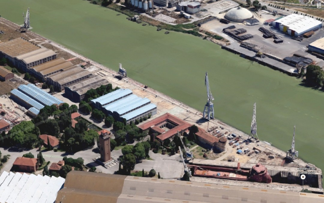 Estructural remodeling project of the antique dock of Armamento, Port of Sevilla