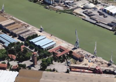 Proyecto de acondicionamiento y reforma estructural del antiguo muelle de Armamento, Puerto de Sevilla