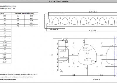 Fichas de Características Técnicas de elementos prefabricados