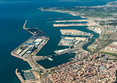 Land and water surface valuation of the service zone of the Port of Tarragona (2009)