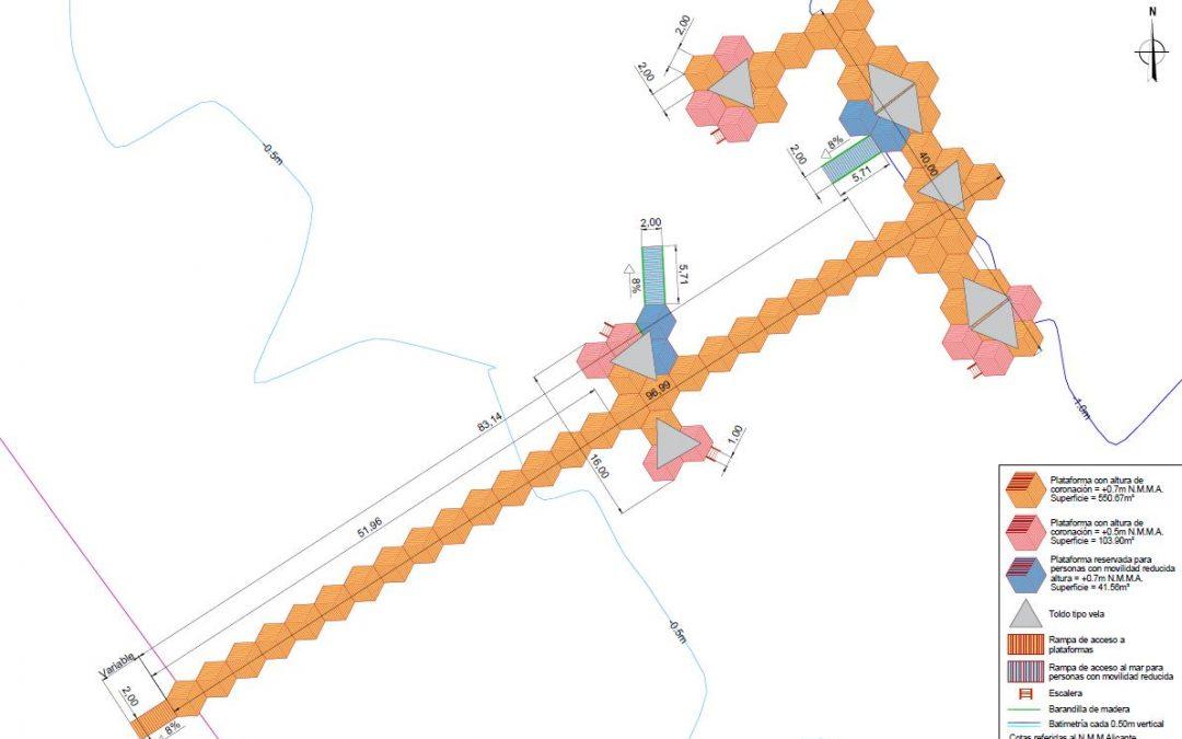 Proyecto de construcción de cinco balnearios en Los Urrutias, Punta Brava y Estrella de Mar (Mar Menor)