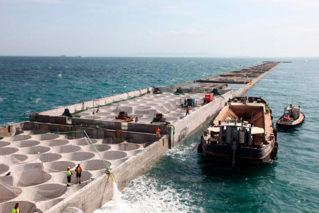 Desarrollo de nuevos cajones de hormigón para la construcción de diques portuarios destinados a la ubicación de parques eólicos – Windports